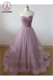 Elegant Tulle Sweetheart Long Prom Dress, Party Dresses KPP0133