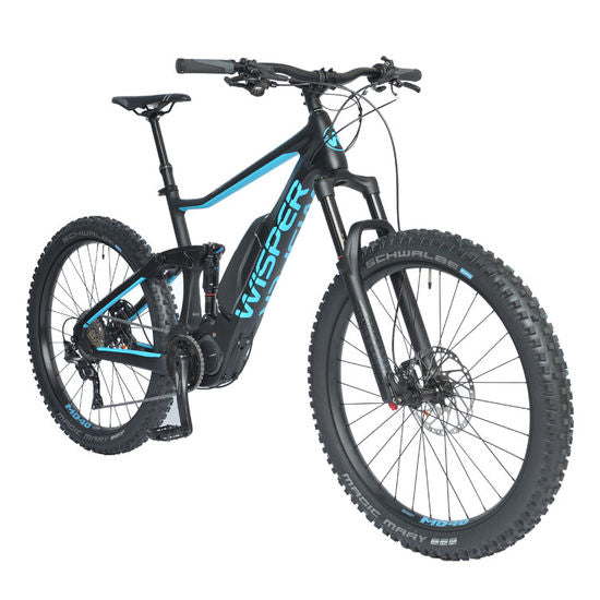 Wisper Wildcat Carbon Electric Mountain Bike eMTB Black / Blue - ElectricRider