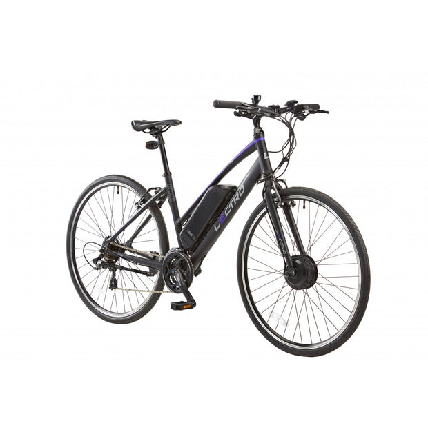 "Lectro 17"" Urban Race, 21 speed, 36v E-BIKE, 700c wheel, Ladies, Black - ElectricRider"