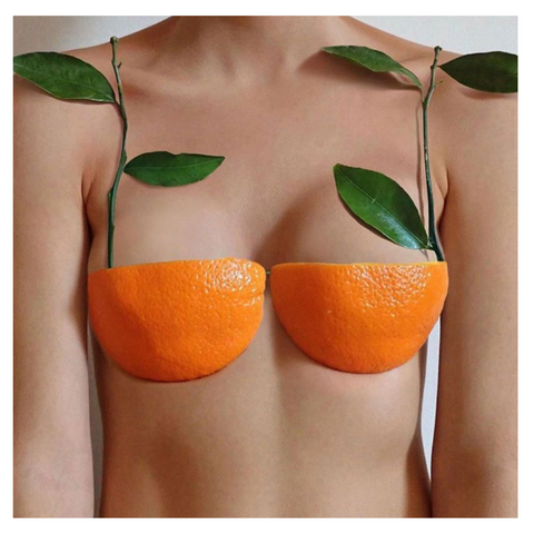 Orange C-Cup Bra art by @gabbois