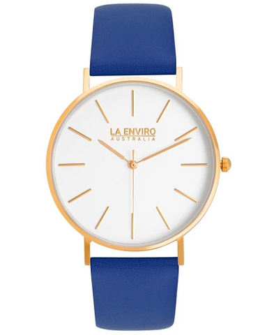 Gold With Blue Strap