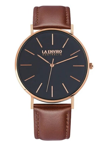 ROSE GOLD WITH BROWN STRAP