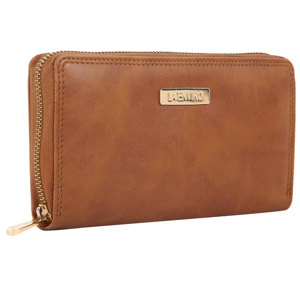 Nia Single Zipper Female Wallet  Tan