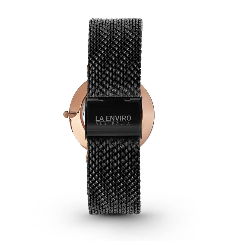 ROSE GOLD WITH BLACK MESH STRAP I TIERRA 40 MM