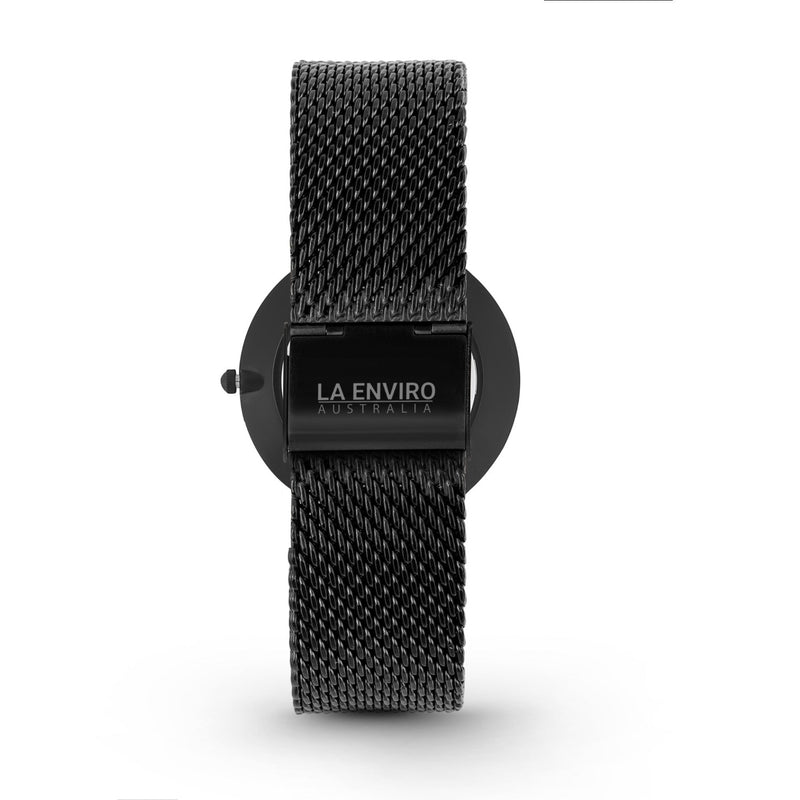 BLACK WITH BLACK MESH STRAP I MARBLE 40 MM