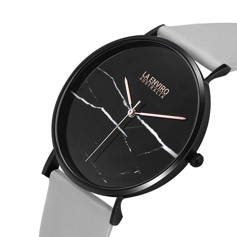 BLACK WITH GREY STRAP I MARBLE 40 MM
