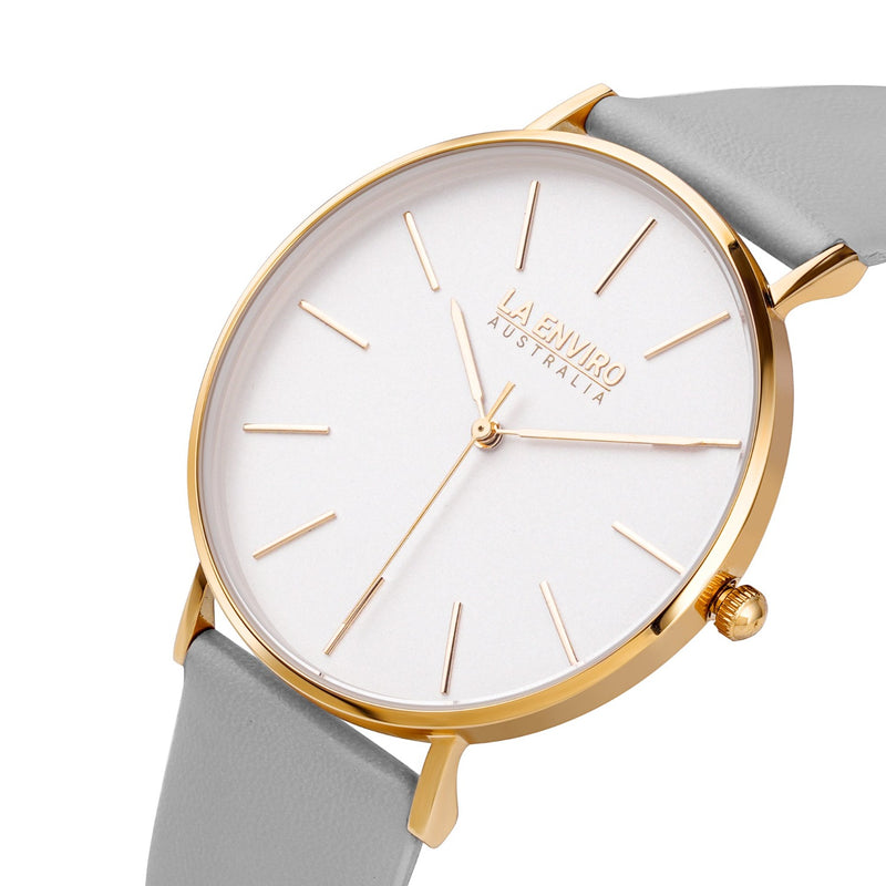 GOLD WITH GREY STRAP I CLASSIC 40 MM