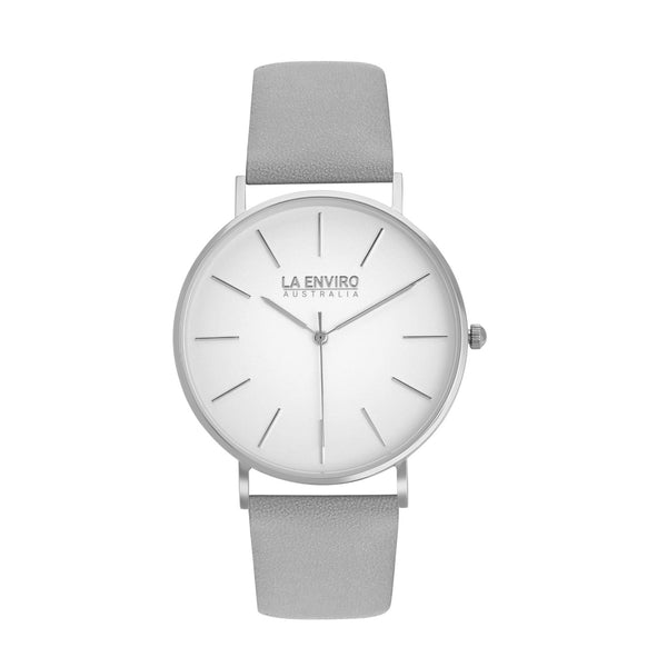 SILVER WITH GREY STRAP I CLASSIC 40 MM