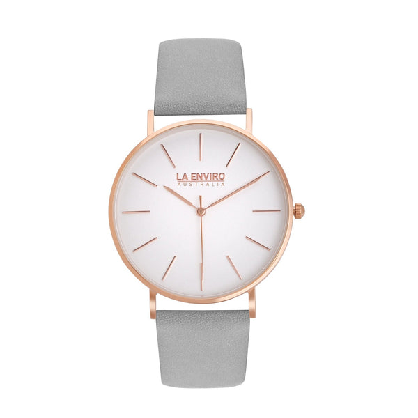 ROSE GOLD WITH GREY STRAP I CLASSIC 40 MM