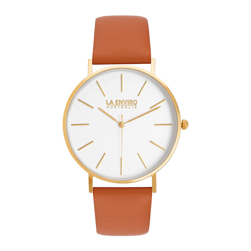 GOLD WITH TAN STRAP I CLASSIC 40 MM