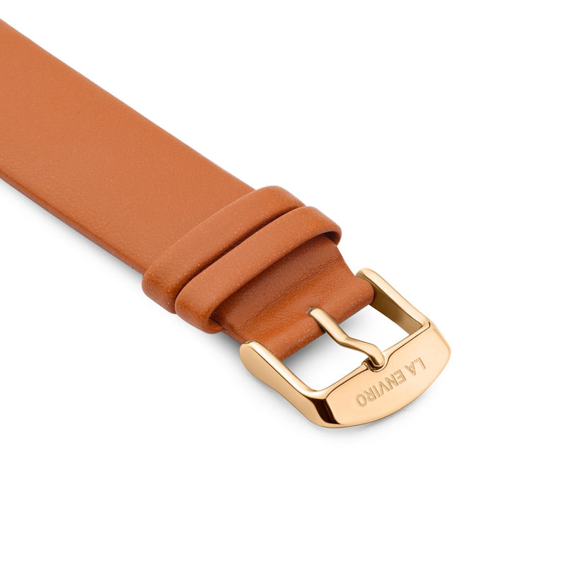 TAN VEGAN LEATHER UNSTITCHED STRAP | 20MM