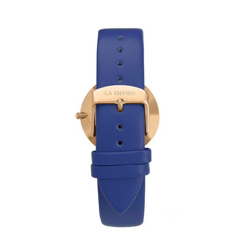 GOLD WITH BLUE STRAP I CLASSIC 40 MM