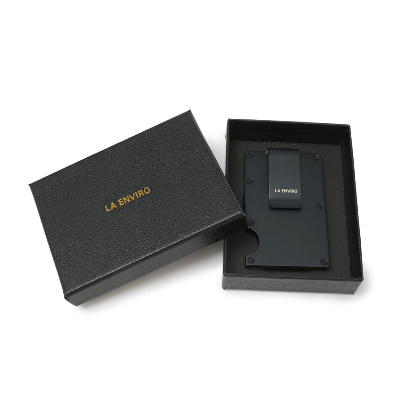 Minimalist Unisex Metal Wallet-  gift box packaging