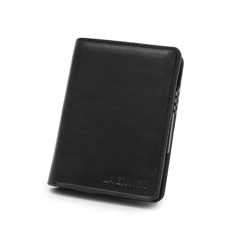 Minimalist Unisex Vegan Leather Wallet (Black) 1