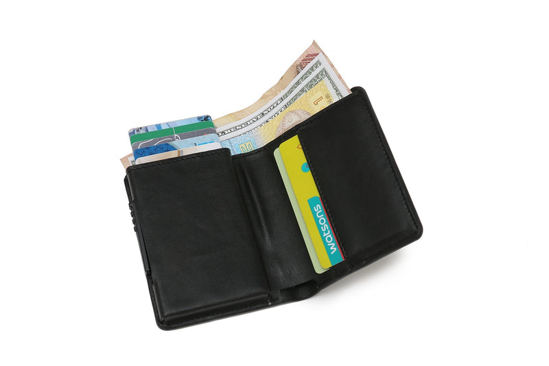 Minimalist Unisex Vegan Leather Wallet is slim and ultra light