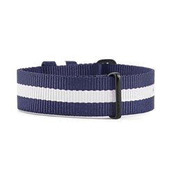 NATO VEGAN BLUE & WHITE STRAP | 20MM