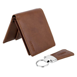 Aron Men's Vegan Wallet with key ring