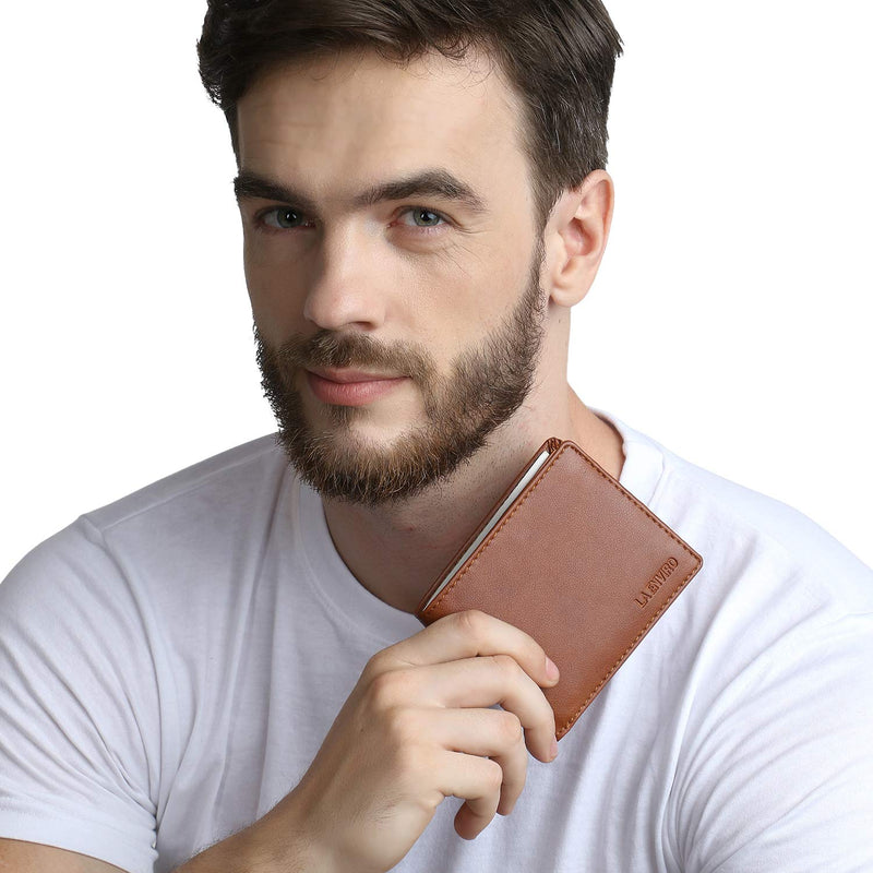 Vegan wallet with model