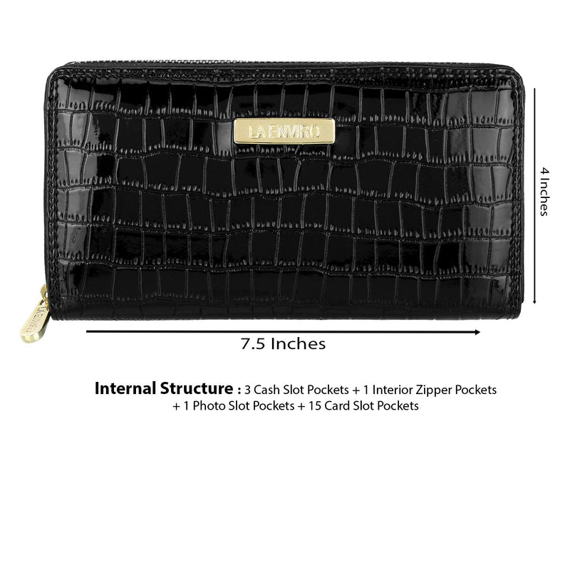 size chart of NIA vegan modern female wallet