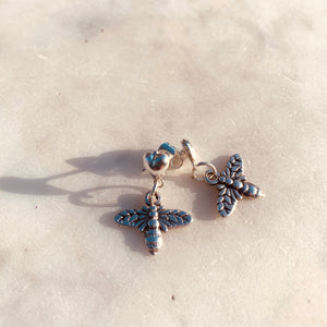 Spring Bee Heart Stud