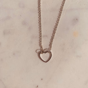 Long Open Heart Necklace