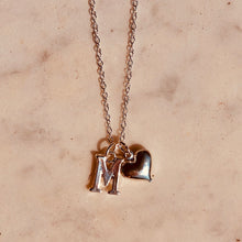 Load image into Gallery viewer, Initial Necklace With Charm