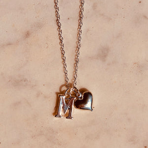 Initial Necklace With Charm