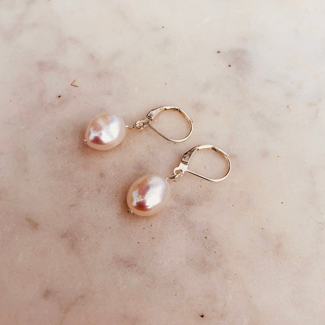 Silver Plated Freshwater Pearl Earrings