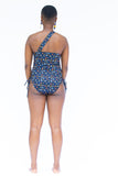 Ruched One Shoulder - Splash