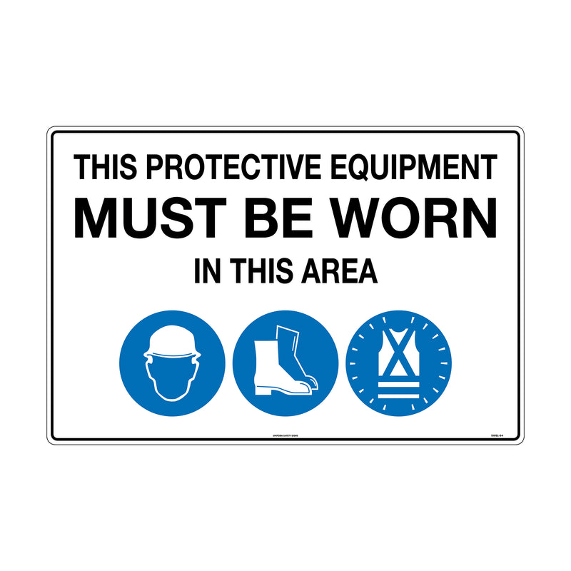 This Protective Equipment Must be Worn in This Area (with 105, 112, 114)