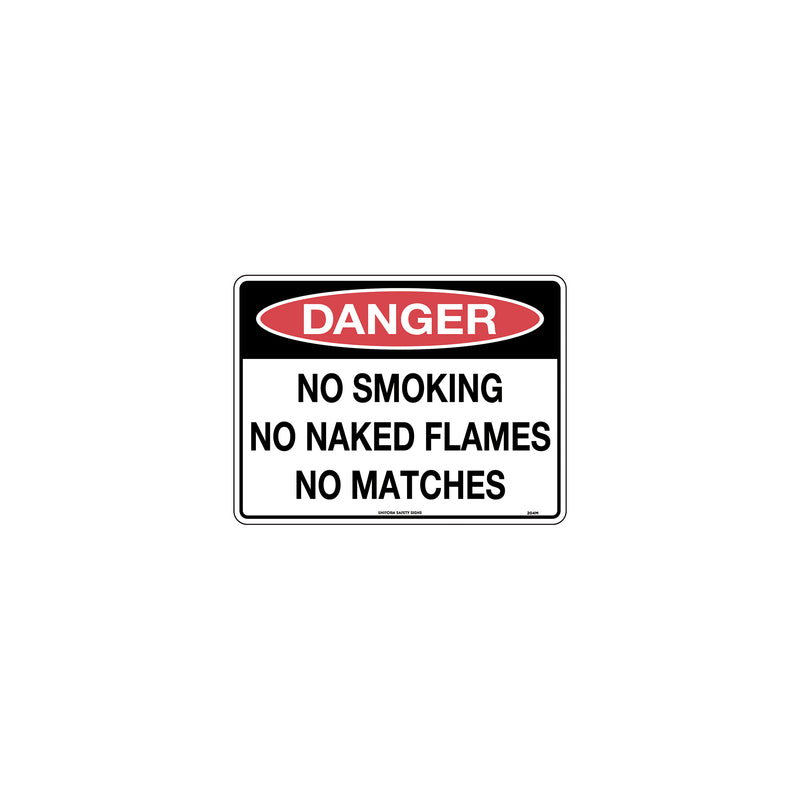 Danger No Smoking No Naked Flames No Matches