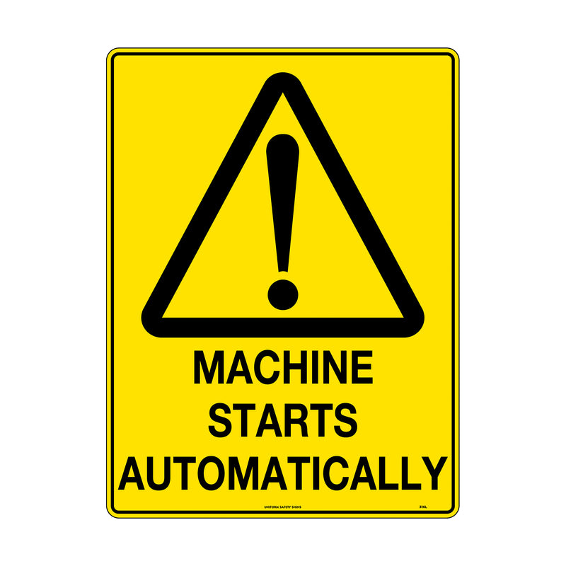 Machine Starts Automatically