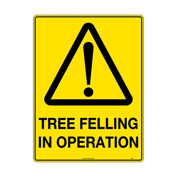 Caution Tree Felling in Operation