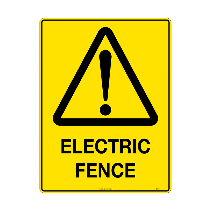 Caution Electric Fence