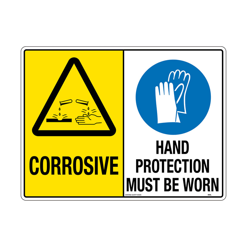 Corrosive / Hand Protection Must Be Worn