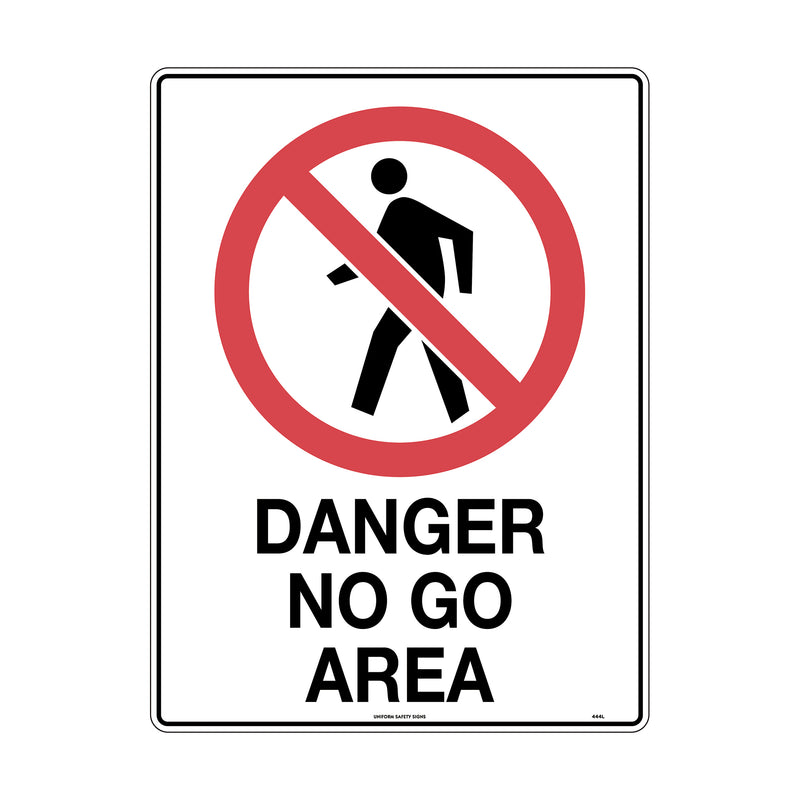 Danger No Go Area