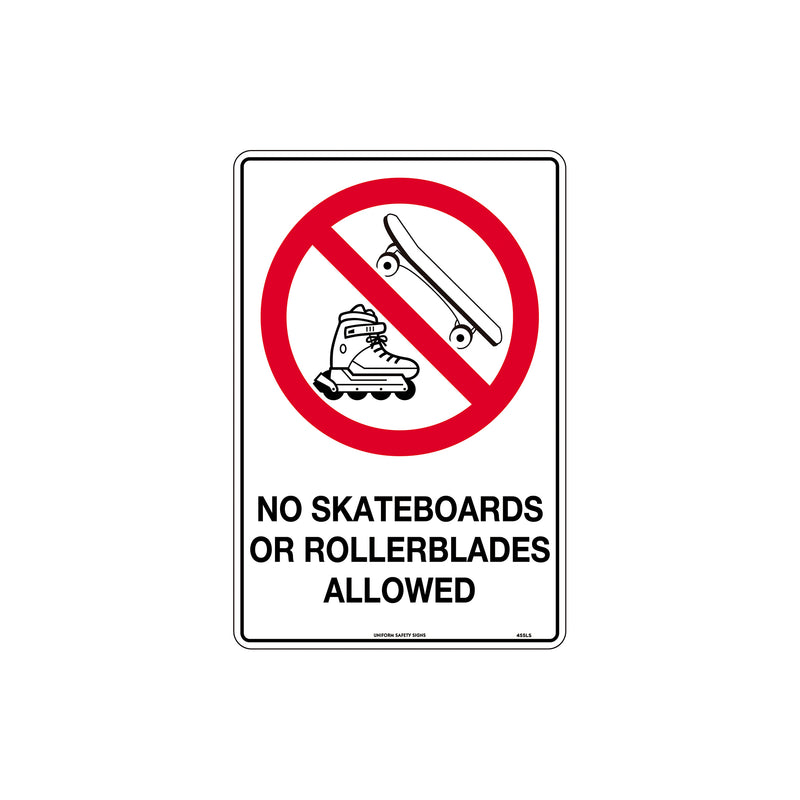 No Skateboards Or Rollerblades Allowed