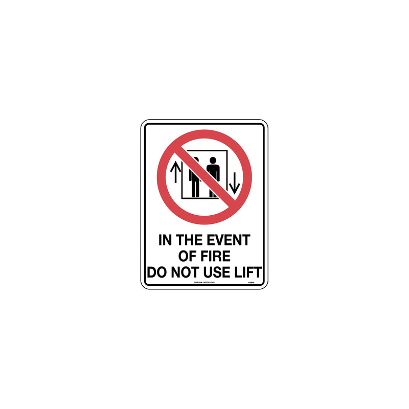 In Event of Fire Do Not Use Lift
