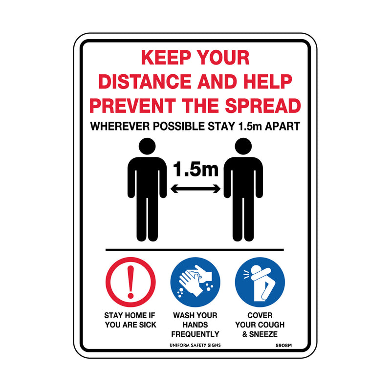 Keep Your Distance And Help Prevent The Spread
