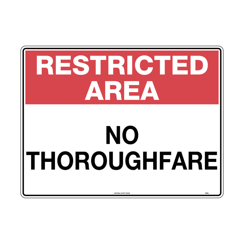 Restricted Area No Thoroughfare