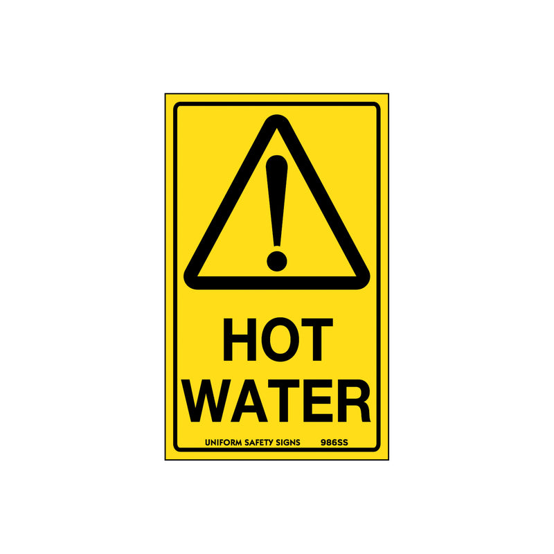 Caution Hot Water