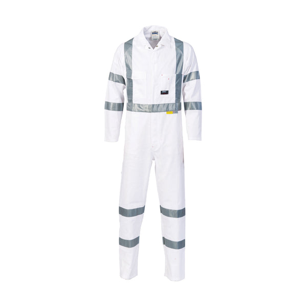 Cotton Drill Nightworker Coveralls with Tape