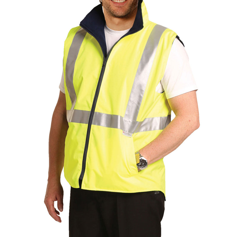 Safety Vest, Fleece Lined Reversible