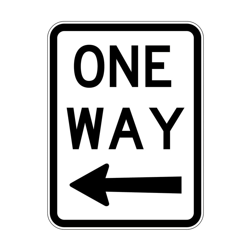 One Way (With Arrow Left)