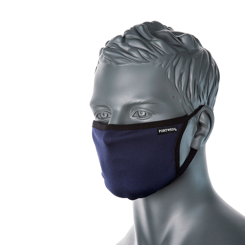 Triple Layer Anti-Microbial Fabric Face Mask - 25 Pack