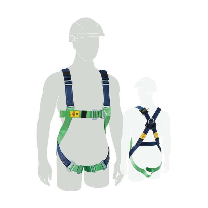 Construction Harness  w/front & rear fall arrest, Medium-Large