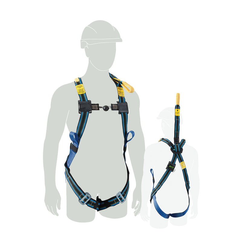 Glove & Barrier Harness w/rear & front non-metallic fall arrest, & CS loops Medium-Large