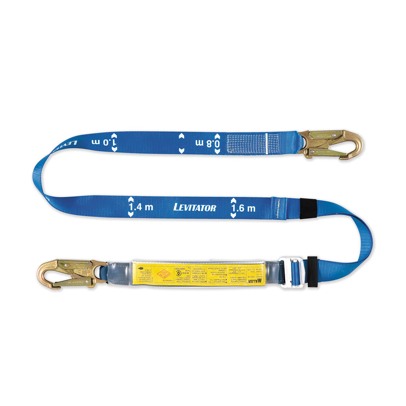 2M Single Adjustable Lanyard with 19mm snap hook each end