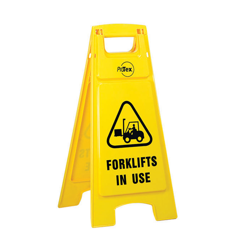 Forklifts in Use - Premium Plastic Sign Stand