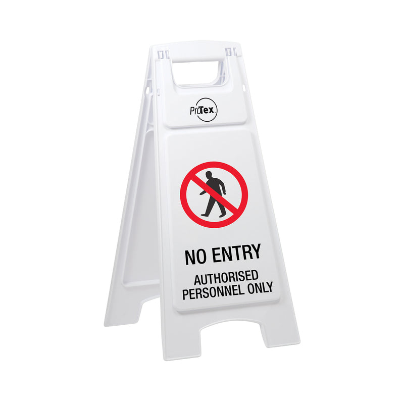 No Entry Authorised Personnel Only - Premium Plastic Sign Stand